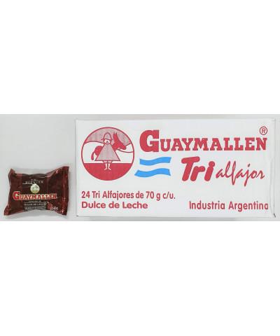 ALFAJOR GUAYMALLEN TRI X 24 NEGRO/