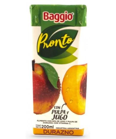 JUGOS BAGGIO PRONTO 200 CC X 18 DURAZNO