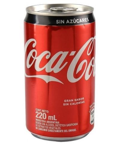 COCA COLA SIN AZUCAR LATA 220 ML. POR UNIDAD