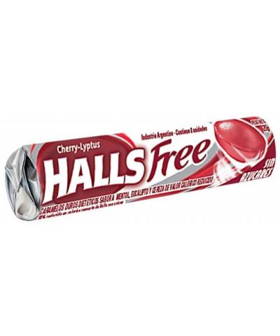 HALLS FREE X 12 CHERRY