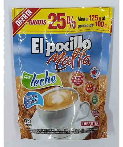MALTA EL POCILLO 125G LECHE