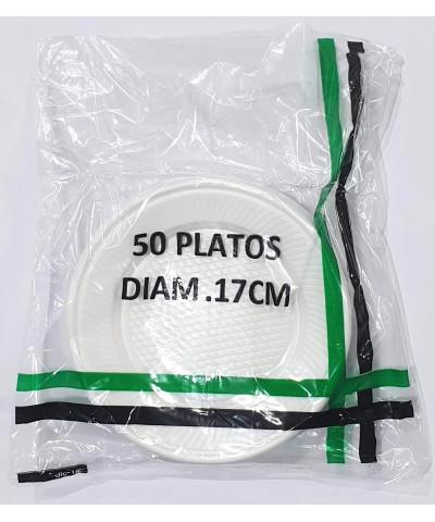 PLATO DESCARTABLE 17CM POR 50 UNIDADES BLANCO