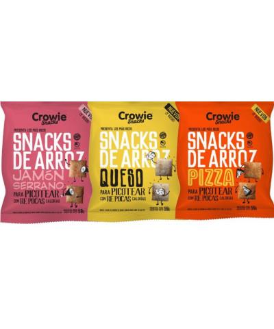Snacks Arroz Crowie Jamon 50g/