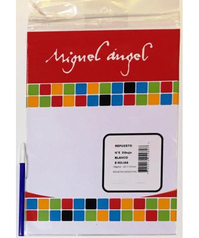 REPUESTO HOJAS DE DIBUJO MIGUEL ANGEL N° 5 BLANCO