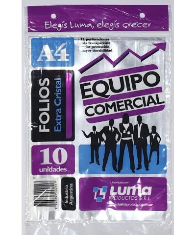 FOLIO EQUIPO COM A4 X 10U