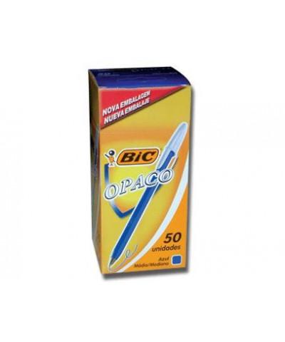 BOLIGRAFO BIC OPACO X 50 U AZUL  /