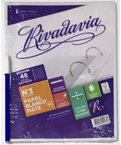 REPUESTO RIVADAVIA 48 HOJAS RAYA CON BANDA
