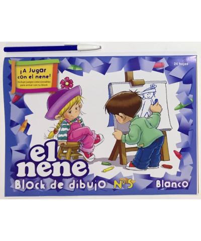 BLOCK DE DIBUJO EL NENE NRO 5 24 HOJAS BLANCAS