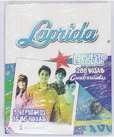 REPUESTO LAPRIDA 288 HOJAS CUADRO