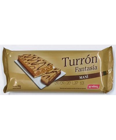 TURRON FANTASIA MANÍ 80 GR