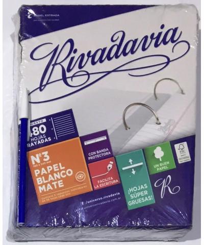 REPUESTO RIVADAVIA 480 HOJAS RAYA