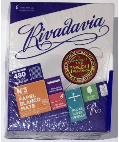 REPUESTO RIVADAVIA 480 HOJAS CUADRO.