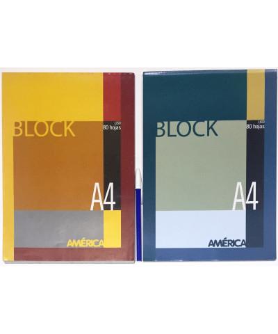 BLOCK AMERICA A4 80 HOJAS LISO