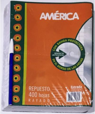 REPUESTO AMERICA 400 HOJAS RAYA