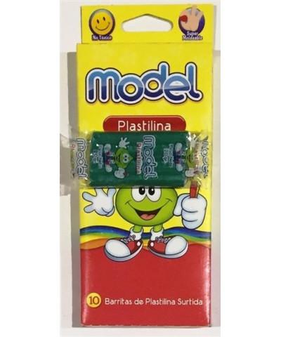 PLASTILINA MODEL X 10 SURTIDA