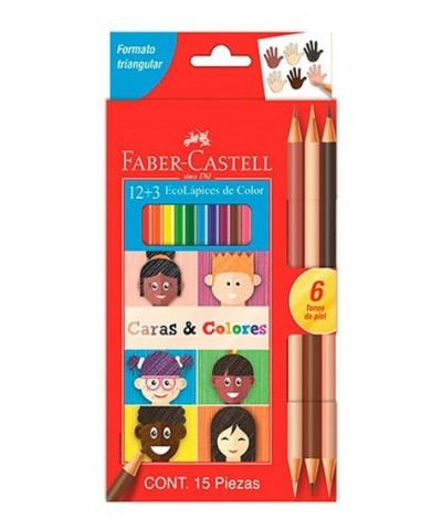 Lap Faber Color 12L+3 Col Piel