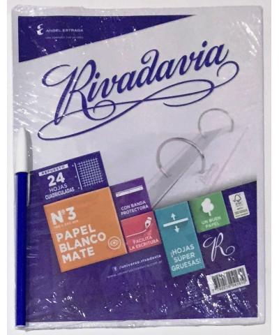 REPUESTO RIVADAVIA 24 HOJAS CUADRO CON BANDA