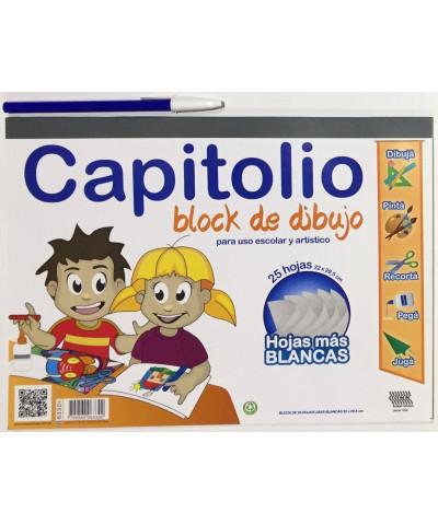 BLOCK DE DIBUJO CAPITOLIO NRO 5, 25 HOJAS BLANCAS