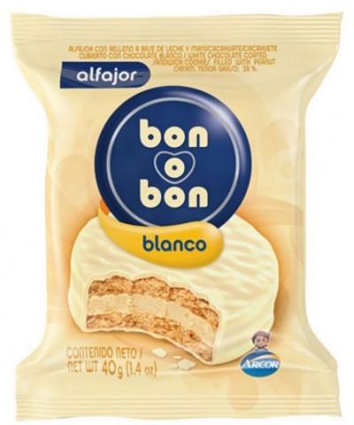 ALFAJOR BON O BON *C/U   BLANCO