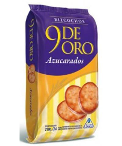 BIZCOCHOS 9 DE ORO AZUCARADOS /