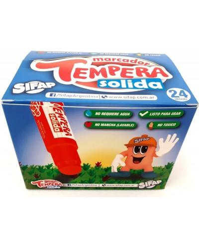 TEMPERA EN BARRA SOLIDA SIFAP DISPLAY X 24
