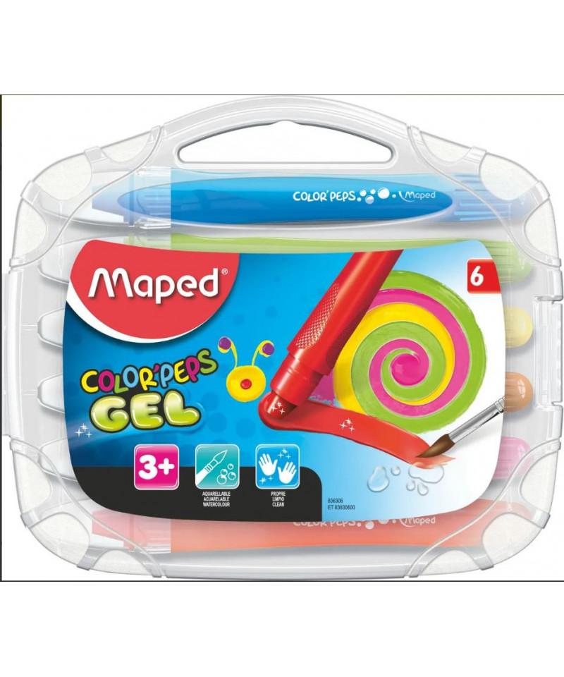 Crayones Gel Colorpeps X6 Maped En Estuche