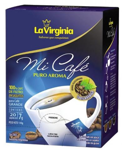 CAFE LA VIRGINEA SAQUITO 20U 7G MI CAFE