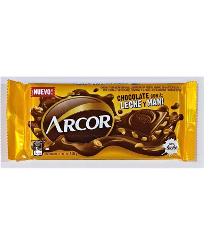 CHOCOLATE ARCOR 100 GR LECHE/MANI*