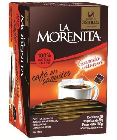 CAFE LA MORENITA INTANTANEO SAQUITO 20U