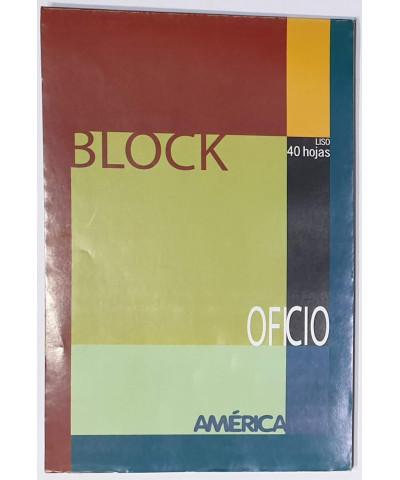BLOCK AMERICA OFICIO 40 HOJAS LISO