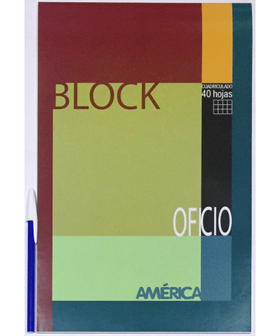 BLOCK AMERICA OFICIO 40 HOJAS CUADRO