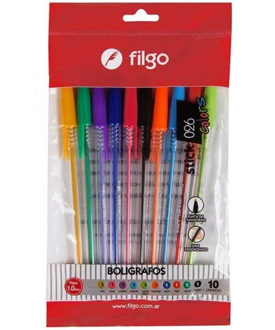 BOLIG FILGO STICK 0,26 X10 COLOURS
