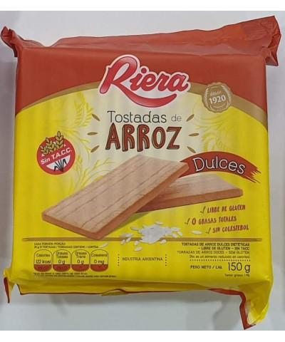 TOSTADA ARROZ RIERA 150G DULCE