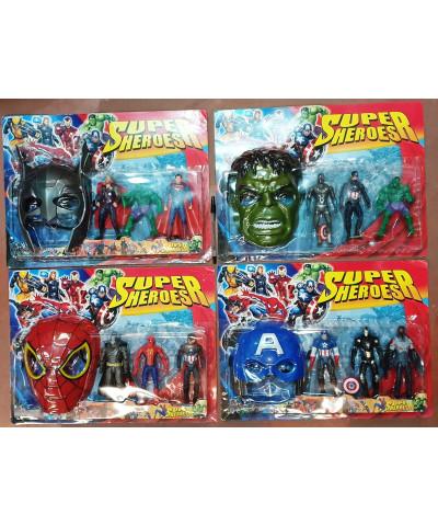 Muñeco Superheroes X3 +mascara