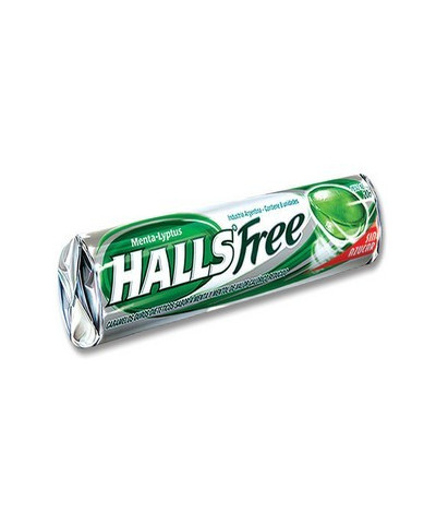 HALLS FREE X 12 MENTA